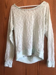 Pink brand lace top