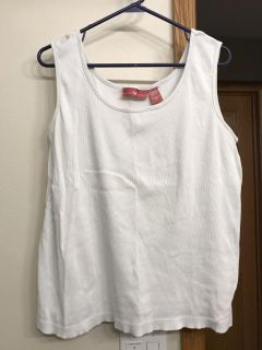 Tank tops from woman within. Size 1XL but fit a little larger like a 2XL. I paid $10 plus tax and shipping