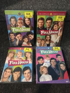 Full House season 1,3,4,5 BRAND NEW in sealed package!! $30 for all!!!