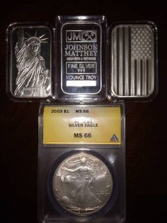 4 oz. of fine .999 Silver CoinBars