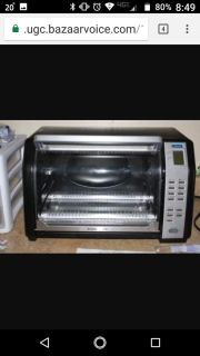 BLACK AND DECKER TOAST-R-OVEN DIGITAL ROTISSERIE CONVECTION OVEN