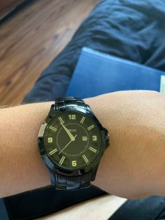 All black casual relic watch $30