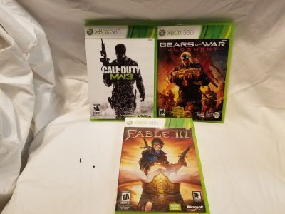 3 Xbox 360,Video Games for $8.00
