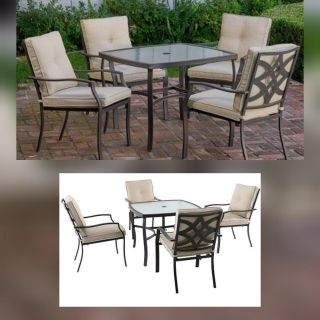 5 piece patio set, delivery, new