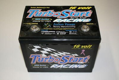 Buy Turbo Start S16V 16 Volt Racing Battery 650 Cold Cranking Top Post 3/8 Threads motorcycle in Melbourne, Florida, US, for US $129.99