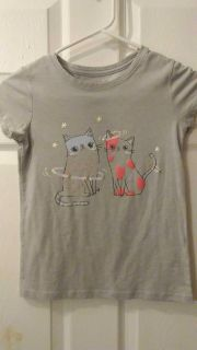 Cat and Jack girls size 7/8 cat shirt
