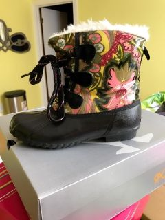 Weather boots for rain and cold weather