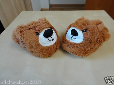 Brand New fluffy flopz plush slippers for unisex kids ages 2-6(2 pairs)