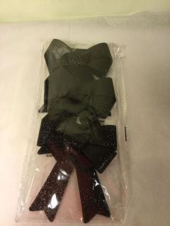 NWT Sparkle black bows for Halloween decorations