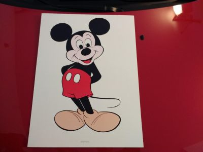 Awesome Mickey Mouse Print on heavy cardboard
