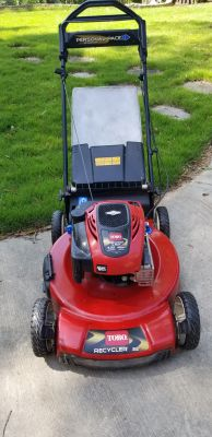 "Toro Lawn mower self propelled 22"" 190cc 7.25hp like new starts 1st crank"