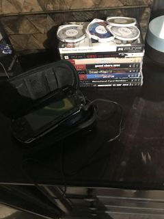 Psp1001 with 13 games and a case