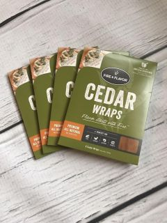 Fire & Flavor Cedar Wraps for grills and stovetop cooking