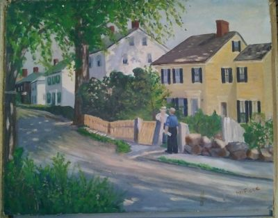 Vintage Painting on canvas board by H. M. Flood