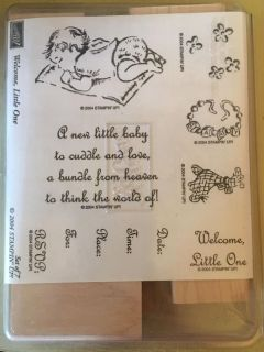Stampin Up Welcome Little One stamp set -New $10