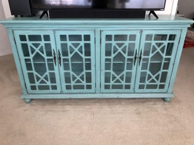 Solid wood media cabinet or console table