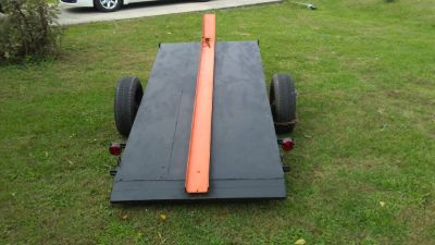motorcycle/lawnmower dump bed trailer