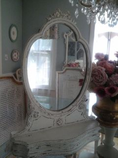 Vintage Shabby chic mirror with bow