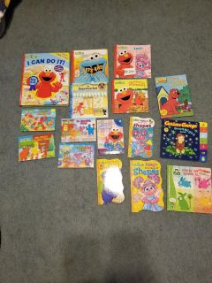 Lot of Sesame Street and PBS Kids books, cross posted
