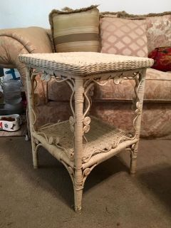 Antique Wicket End Table or Outside Table