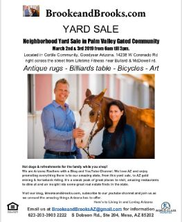 Neighborhood Yard Sale March 2nd & 3rd 2019 from 6am till 3pm.