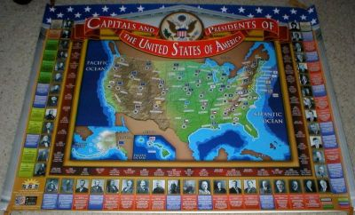Historical Poster - Capitals & Presidents of the United States of America