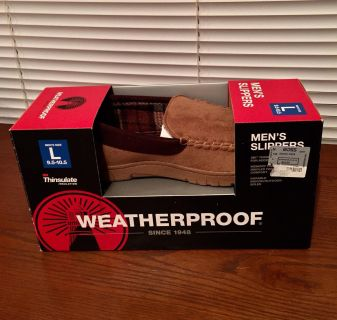 Brand New Men s Weatherproof with Thinsulate Slippers