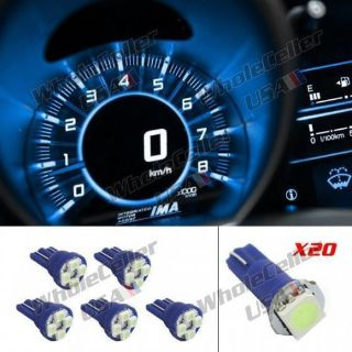 Find 25pcs Ice Blue LED Bulbs T10 T5 194 74 Lamp Instrument Gauge Cluster Repair Kit motorcycle in Milpitas, California, United States