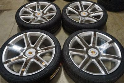 "Purchase 22"" 2016 Cadillac Escalade Rims Chrome Inserts Platinum ESV EXT Wheels w/ Tires motorcycle in El Centro, California, United States, for US $1,575.00"