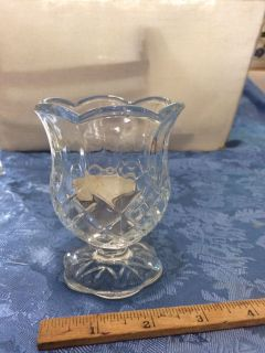 Votive cup cut glass