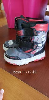 Star wars winter boots boys 11/12