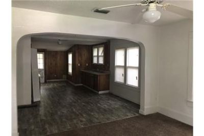2/1 home with newer flooring and large kitchen.