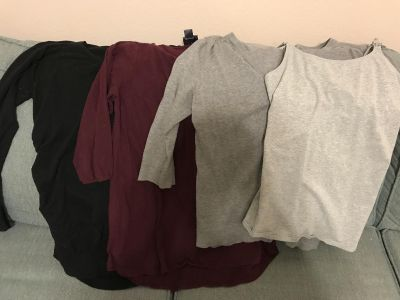 Lot of 4 Size L Maternity Tops