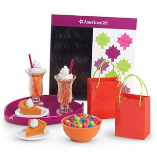 AMERICAN GIRL FALL PARTY TREAT SET FOR DOLLS FOOD HALLOWEEN NEW IN BOX