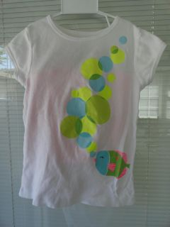 SIZE 6 GLITTERY SHIRT/6X SHORTS ''FISH BLOWING BUBBLES'' OUTFIT BY CARTERS 1 OF 2 PICS