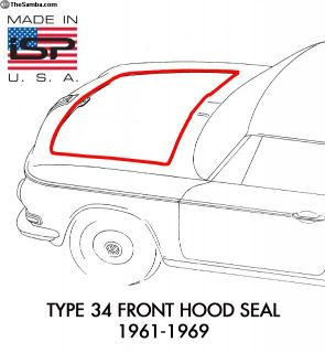 New Type 34 Front Hood Seal 1961-1969