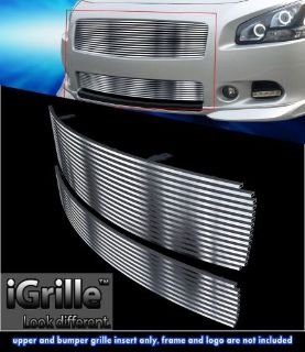 Purchase Fits 2009-2014 Nissan Maxima 304 Stainless Steel Billet Grille Combo motorcycle in Ontario, California, United States