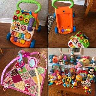 Activity gym, walker, baby toys