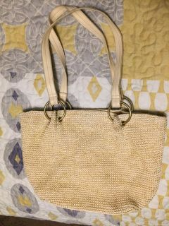 Ivory with Gold Thread Purse