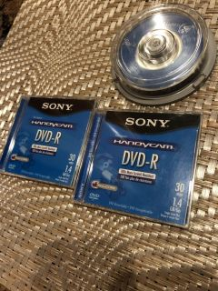 8 CM DVD-R Disk for movie cameras. ** MUST COME PICK UP**