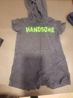 Carters handsome hooded romper 6 months