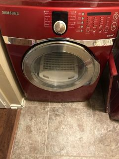 Red Samsung Dryer BEST OFFER!!