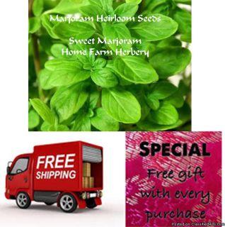 Sweet Marjoram Heirloom Seeds, Order now, FREE shipping & free gift