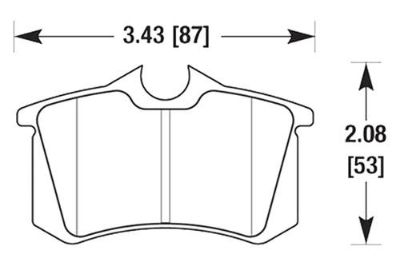 Buy HAWK HB364Z.587 - 90-92 Volkswagen Corrado Rear Brake Pads Ceramic motorcycle in Chino, California, US, for US $67.90