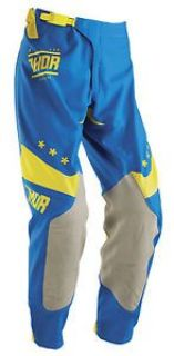 Purchase Thor Prime Fit Squad 2016 Mens MX/Offroad Pants Blue/Yellow/Gray 34 motorcycle in Holland, Michigan, United States, for US $89.00