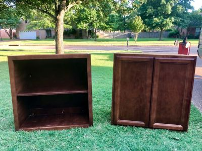 Pair of wood cabinets $30 for both