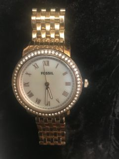 Ladies Emma Rose Gold Fossil Watch