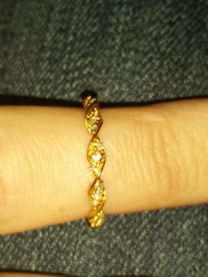 Sterling silver 925 yellow gold