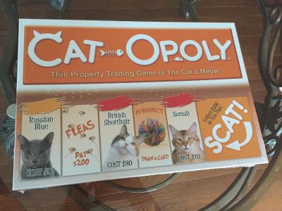 CAT-OPOLY....CAT MONOPOLY...For the CAT LOVER!!!