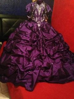 Purple Quinceera Dress